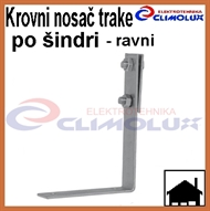Roof holder for galvanized flat tape for shingles